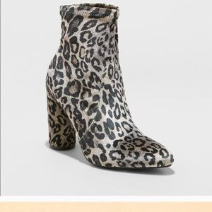 Leopard sock boots